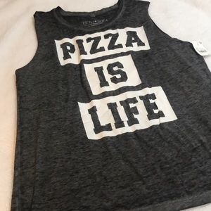 "NWT Fifth Sun ""Pizza is Life"" Tank Top"